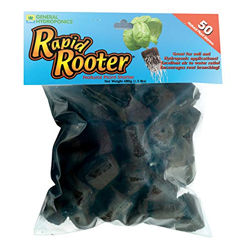 General Hydroponics Rapid Rooter Plant Starters, 50 Plugs
