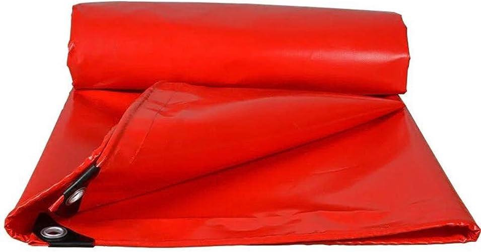 Légers Bache, Idéal pour Les Camions Couverture, équipement, Couverture De Toit, Construction, Couverture Kennel, Hay Couverture, Camping Cover (Couleur   rouge, Taille   5x7m)