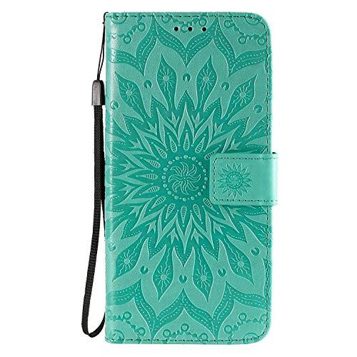 Hülle für Huawei Honor 30 Hülle Handyhülle [Standfunktion] [Kartenfach] [Magnetverschluss] Tasche Flip Case Cover Etui Schutzhülle lederhülle klapphülle für Huawei Honor 30 - DEKT030996 Grün