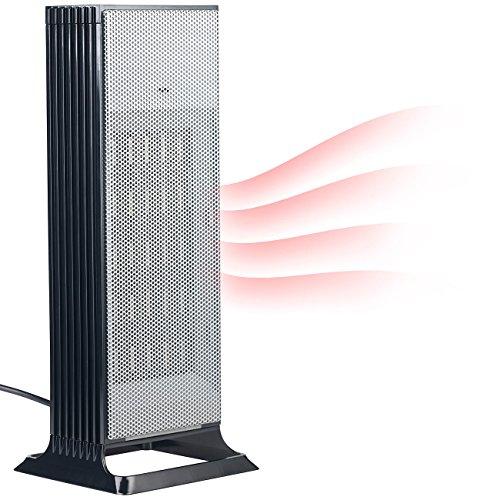 Carlo Milano Heizgerät: Design-Turm-Keramik-Heizlüfter, Thermostat, 3-stufig bis 2.000 Watt (Heizungen)