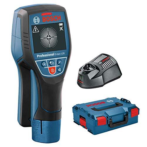 Bosch Professional D-tect 120 - Escáner de pared (1x 12V, profundidad máx. 120 mm, en L-BOXX)