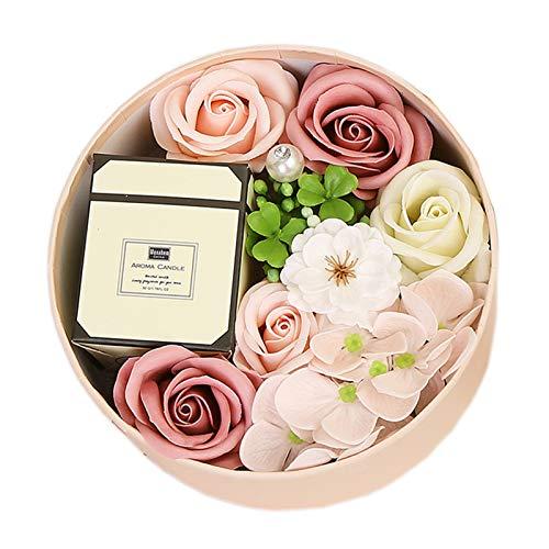 collectvoice Caixa de flores artificiais para banho de aromaterapia, rosa eterna para mulheres, meninas, mãe, aniversário, casamento, dia dos namorados, dia das mães, rosa