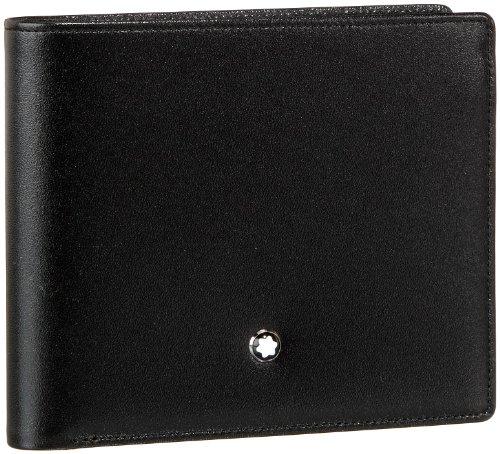 MST Wallet 11cc View Pocket Black Material impermeable Diseño elegante y cómodo de llevar Todos nuestros productos están identificados con un emblema Montblanc Tamaño: 12 x 12 x 2