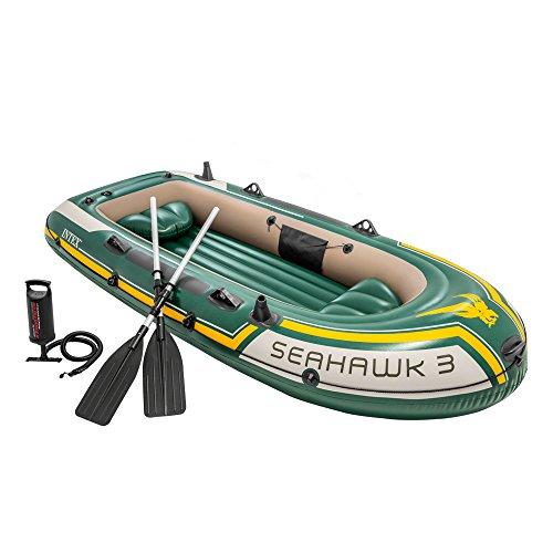 INTEX Bateau gonflable Seahawk 3  vert jaune 2.95m x 1.37m x...