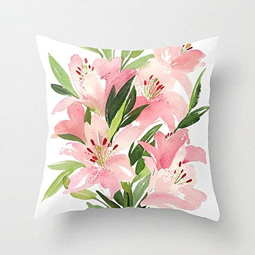 Swooggle Flower Pattern Square Art Cushion Cover Polyester Pillow Cover Home Sofa Decoration Pillow Cover 2BZ-40844-051