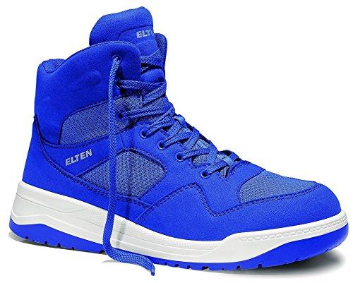 ELTEN Maverick Blue Mid S1P Herren Sicherheitsschuhe, Arbeitsschuhe, Sicherheitsschnürstiefel, Zertifiziert nach EN ISO 20345 : S1P, Stahlkappe (Blau), EU 38