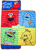Sesame Street Logo Nap Mat - Built-in Pillow and Blanket Featuring Elmo, Cookie Monster, & Big Bird- Super Soft Microfiber Kids'/Toddler/Children's Bedding, Ages 3-5 (Official Sesame Street Product)