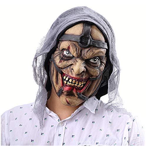 FLYM Mscara de Halloween del Traje de ltex de Caucho, Horror Mago de Halloween mscara de ltex Masculino proxeneta, Carnaval de Disfraces Vestido Partido Accesorios, Adultos y nios