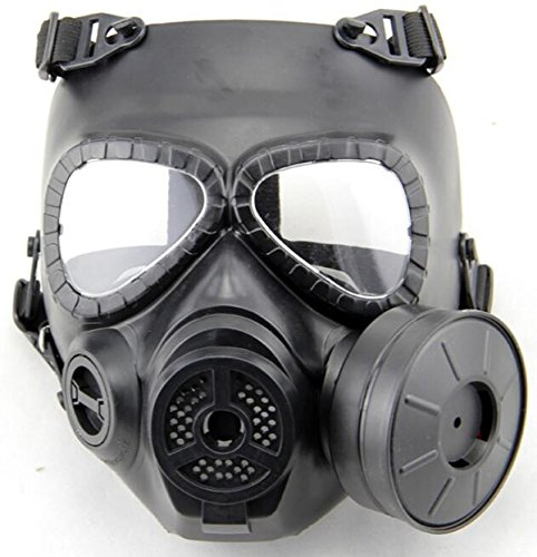 ATAIRSOFT WorldShopping4U Dummy Anti Fog Gas Face Mask M04 w Turbo Fan Airsoft paintbal Protection des engins (Black)