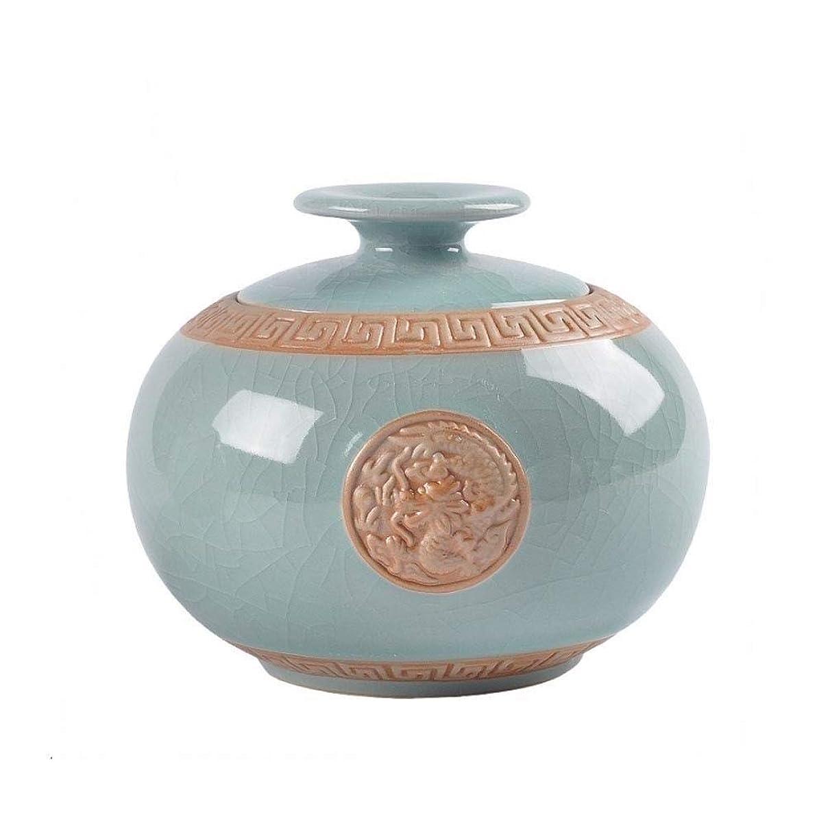 クリップ蝶誤最適灰のための中型の火葬骨壷 - 人間の灰のための葬儀骨壷 - 家でまたはニッチで陶器と手塗りのディスプレイで埋葬骨壷