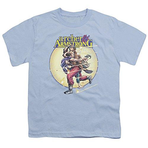 Archer & Armstrong - - Jeunesse Vintage A & A T-shirt, X-Large, Light Blue