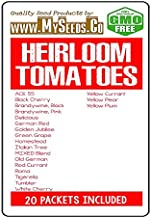 Heirloom Tomato Seeds Combo Kit - from Ace 55 to Yellow Plum Tomato Seeds - by MySeeds.Co (Heirloom Tomatoes Kit)