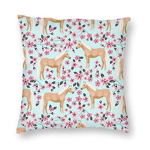 Throw Pillow Cover Palomino Horse Cushion Cases for Sofa Couch Home Decor 18x18 Inch