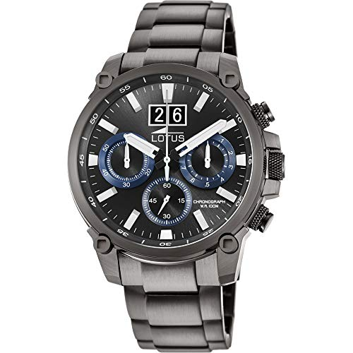 Lotus Herren Chronograph Quarz Uhr mit Edelstahl Armband 10140/3