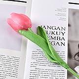 lliang Künstliche Blumen 10Pcs künstliche Blumen-Weiß Real Touch for Hauptdekoration Künstlich Tulpe-Blumen-Blumenstrauß-Hochzeit Gartendeko (Color : Pink, Size : 10 pcs)