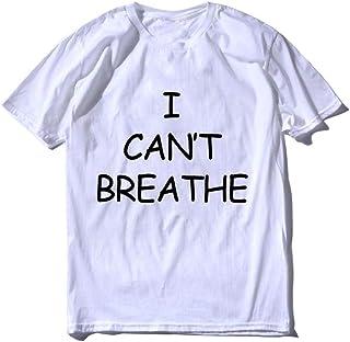 No Puedo Respirar Camiseta con Estampado de Letras de Manga Corta para Hombre Verano más Sudadera con Capucha