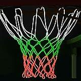 Eventualx Red de baloncesto – Equipo deportivo para el hogar, repuesto de red de baloncesto resistente, 3 x red luminosa estándar de baloncesto de alta calidad, (20 pulgadas)