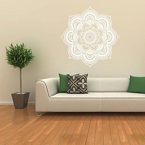 Adhesivo decorativo para pared, diseño de mandala de vinilo, decoración de hogar, dormitorio, yoga, estudio, 3 colores