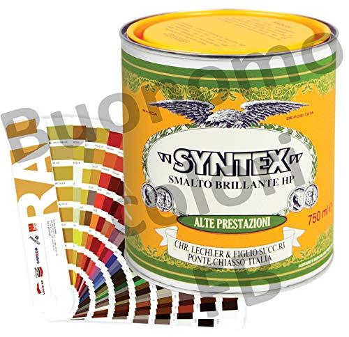 Smalto Colorato tinte RAL, a Solvente, all'Acqua (750 ml, Smalto all' Acqua)