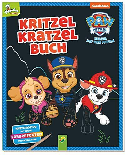 Paw Patrol - Kritzel-Kratzel-Buch: Auskratzmotive mit tollen Farbeffekten. Mit Bambus-Stick