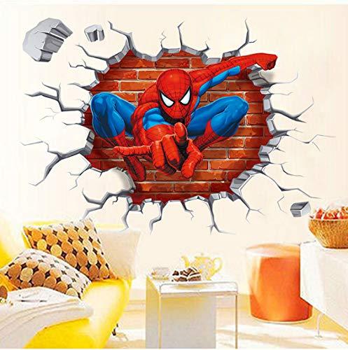 Populaire Spiderman Dessin Animé Film Maison Décalcomanie Mur Autocollant Pour Enfants Chambre Décor Enfant Cadeaux Papier Peint
