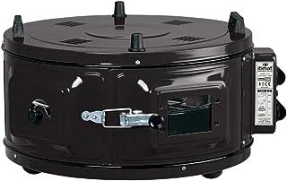 Mini horno redondo para horno, horno de pizza con termostato, esmaltado, 1100 W, 50-300 °C, color negro