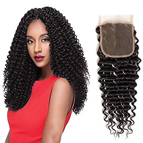 Biple Top Lace Closure Cheveux Humains tissage perruque extensions de Cheveux 10 inch