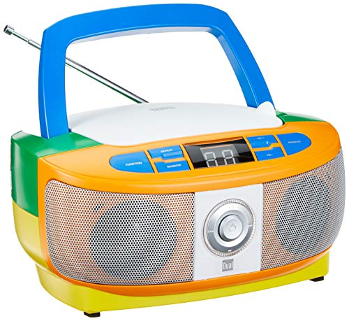 Dual 75046 P 49-1 Bunt Radio mit CD-Player (UKW-Radio, Boombox, Stereo Lautsprecher, Netz- / Batteriebetrieb, Tragbar)