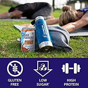 Pure Protein Vanilla Cream Protein Shake | 35g Complete Protein | Ready to Drink and Keto-Friendly | Excellent Source of Calcium | 11oz Cans | 12 Pack