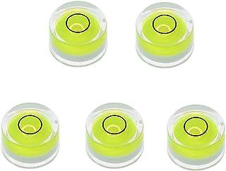HELYZQ Mini nível de bolha redonda de 5 peças de instrumento de medição de nível Bullseye