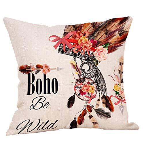 SIRIGOGO 2019 funda de almohada de lino y algodón para el hogar, 26 piezas, 30 x 50 cm, decoración del hogar