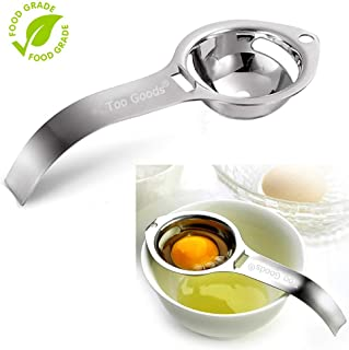 Egg Separator Egg Yolk White Filter Food Grade Egg Divider Stainless Steel Egg Sieve Kitchen Gadget Cooking/Baker Tool Egg Extractor (Silver)