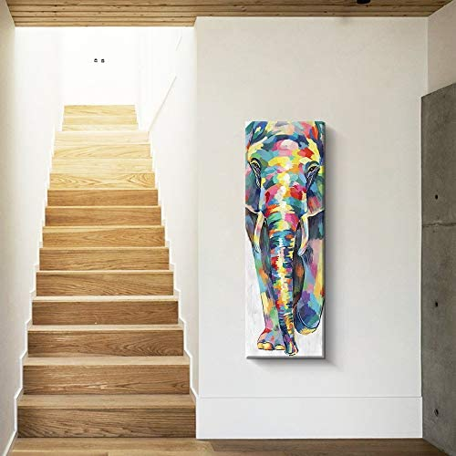 Colorful elephant paintings _image4