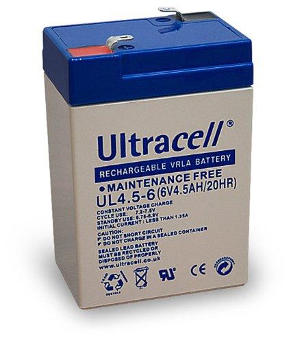 3x Wentronic Blei-Akku (Ultracell) 6 V, 4,5 Ah (Faston 187-4,8mm )