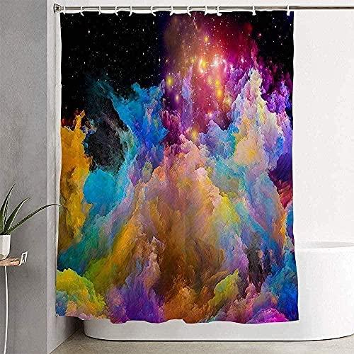 Cortina de Ducha para baño Color Kingdoms Series Pintura de fantasía Composición Fractal Cosmos Pinturas Diseño Abstracto Texturas Decoración de baño