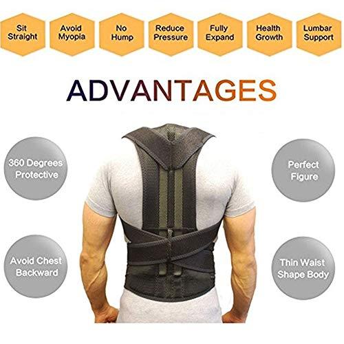 HZL01 Haltungstrainer Rücken zur Haltungskorrektur ,Professioneller Rückenstabilisator ,Rückenbandage Rückenstütze Schmerzlinderung für Damen HerrenM