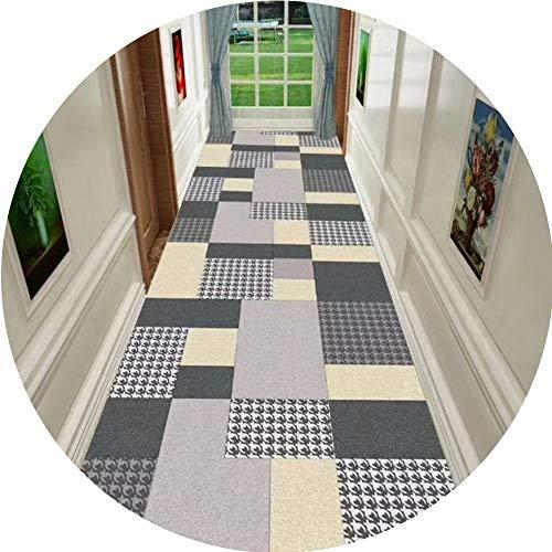 ZRUYI loper tapijt, vloerkleed voor gang, vloerbedekking met antislip, zacht, geschikt voor slaapkamer, woonkamer, vloer, decoratie, grootte aanpasbaar