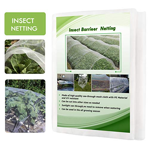 Eluck 10 Ft x 30 Ft Mosquito Bug Insect Bird Garden Netting Barrier Hunting Blind Netting for Protect Your Plant Fruits Flower