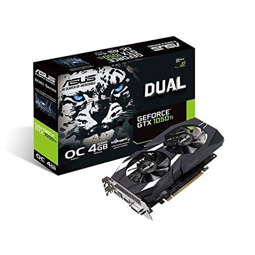ASUS Geforce GTX 1050Ti 4GB ROG Strix OCエディション HDMI 2.0 DP 1.4 ゲームグラフィックスカード GTX 1050 TI DUAL OC 4GB V2 131205