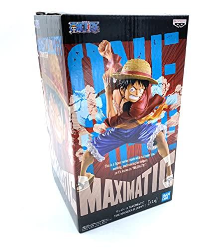 Banpresto - Figurine One Piece - Cappello di Paglia Rubber The Monkey D Luffy Maximatic 17cm - 4983164166354, Multicolore