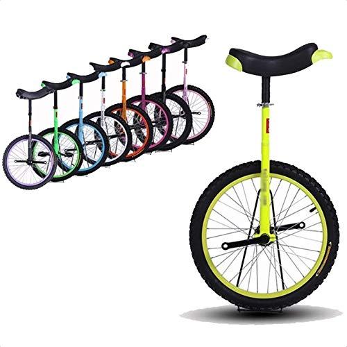 """Einrad Anfänger/Kinder/Kind 14\""""Einräder, Kleine Jungen/Mädchen Kleine Balance Uni-Cycle, 5/7/8 Jahre Alt, Free Stand Fashion Outdor Exercise Einrad (Color : Yellow)"""