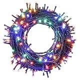 OUSFOT 25m Cadena de Luces para Navidad, 250 LEDs 8 Modos Fiesta Multicolor Guirnalda Luminosa Decorativa para Habitación Hogar Bodas Cumpleaños