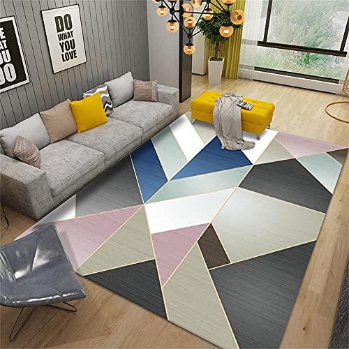 Puerta exterior alfombra adornos para sala de estar moderno rosa azul gris oro moderno diseño geométrico geométrico alfombra antideslizante 120x160cm