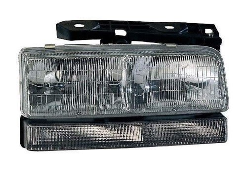 Go-Parts - for 1993 - 1996 Buick Park Avenue Front Headlight Assembly Housing / Lens / Cover - Right (Passenger) Side 16523430 GM2503129 Replacement 1994 1995