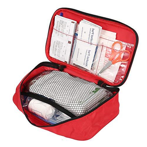 30 types Trousse premier secours voyage complet, sac de kit survie imperméable, boîte de soins urgence activité extérieur sauvage camping randonnée maison bureau entreprise voiture école (180 PCS)