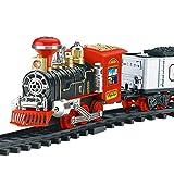 zeyujie Control Remoto eléctrico del Humo del Tren ferroviario Modelo de simulación Recargable clásico de Vapor Tren de Juguete de los niños (Color : C)