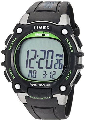 Timex Relógio Ironman Classic 100 tamanho completo, Preto/Verde