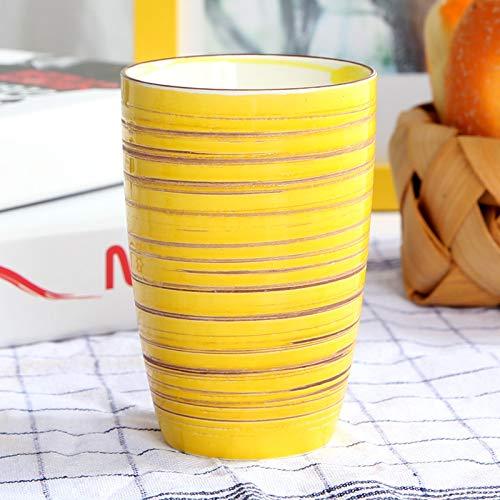Taza de cerámica Desayuno color Amarillo
