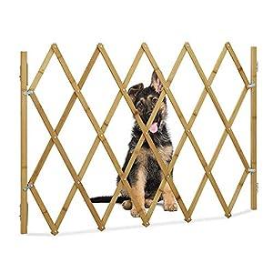 HITECHLIFE Cerca De Madera Extensible De La Barrera De La Reja De La Puerta del Animal Doméstico Reja Protectora De La Rejilla para La Puerta Casera De La Escalera