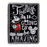 Disney's Mickey Mouse, 'Amazing Day' Woven Tapestry Throw Blanket, 48' x 60', Multi Color